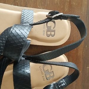Gianni Bini Shoes - Black leather sandals